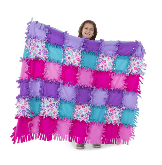 Created By Me Flower Fleece Quilt Kids Sewing