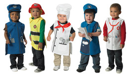 The Children's Factory Community Helper Tunics with Hoods: Set of 5