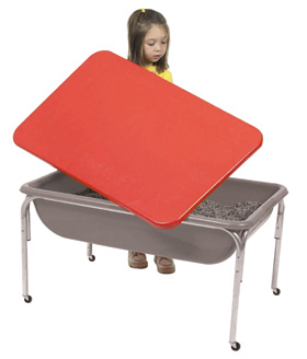 The Children's Factory Large Sensory Table and Lid Set: 18""