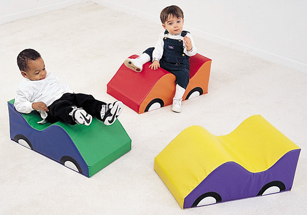 The Children's Factory Wide Infant Toddler Soft Car