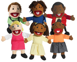 The Children's Factory Ethnic Children Diversified Children Puppet: Set of 6