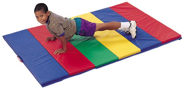 The Children's Factory Rainbo Panel Folding Mat: 4' x 4'