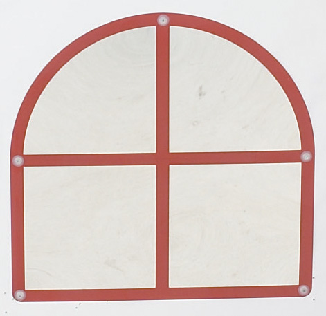 The Children's Factory Arched Windowpane Mirror