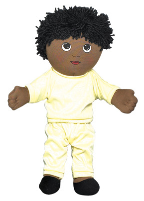 "The Children's Factory African American Boy in Sweat Suit in Poly Bag: 14"" Tall"