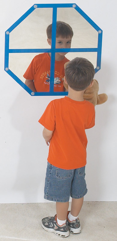The Children's Factory Octagon Windowpane Mirror