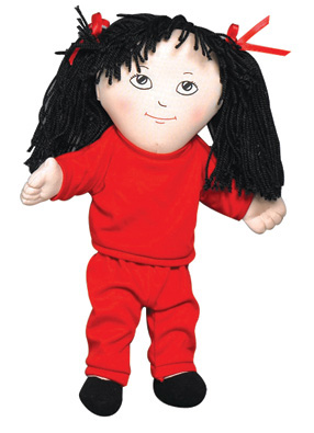"The Children's Factory Asian Girl in Sweat Suit: 14"" Tall"