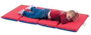 "The Children's Factory 2"" Thick Infection Control Mat: 4 Sections, Red/Blue"