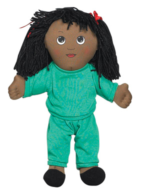 "The Children's Factory Black Girl in Sweat Suit: 14"" Tall"