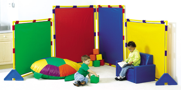 The Children's Factory Big Screen Rainbow Playpanel Set