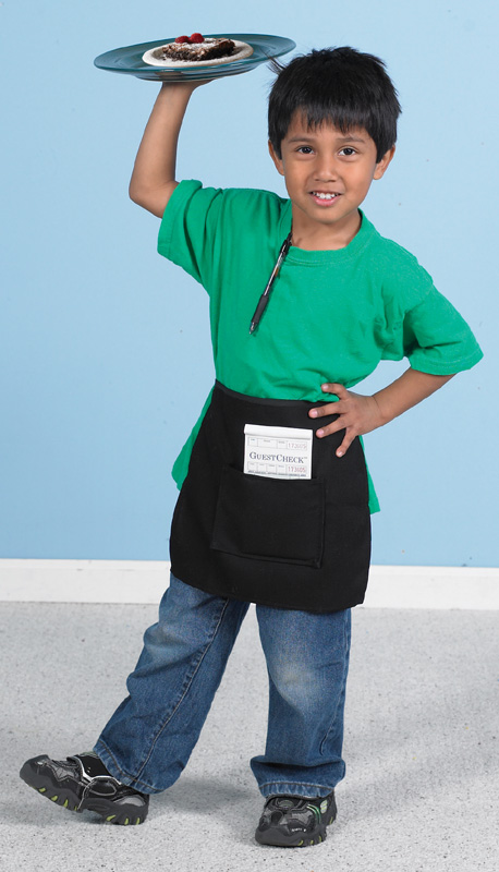 The Children's Factory Waiter/Waitress Apron with Guest Order Book and Menu