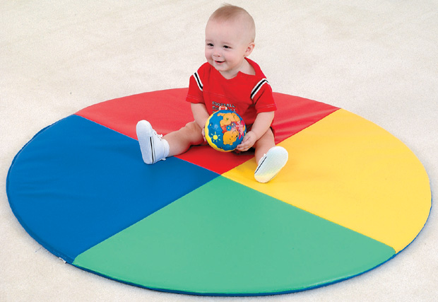 The Children's Factory Four Color Pie Mat