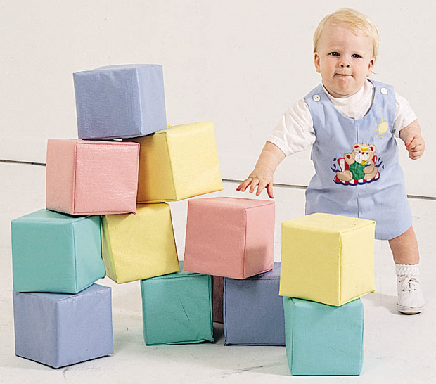 The Children's Factory Toddler Baby Block: Set of 12, Pastel