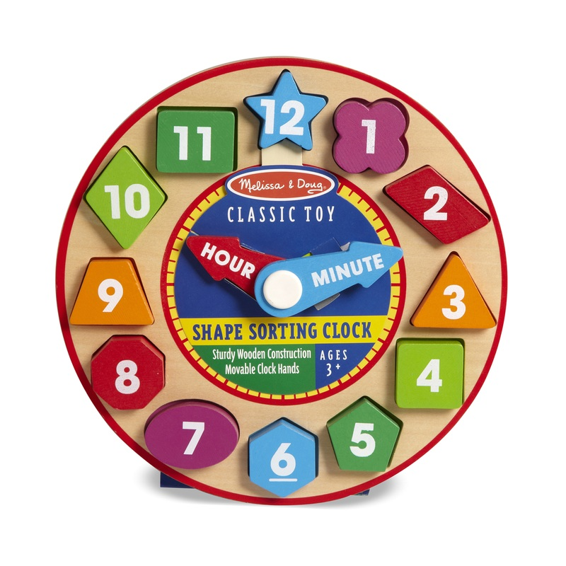 Shape Sorting Clock: 3+ Years