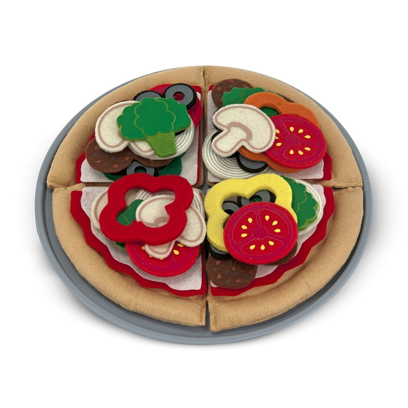 Felt Play Food - Pizza Set: 3+ Years