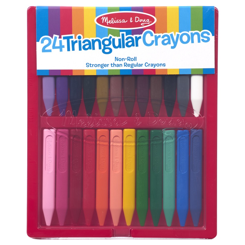 Triangular Crayons: Pack of 24, 3+ Years