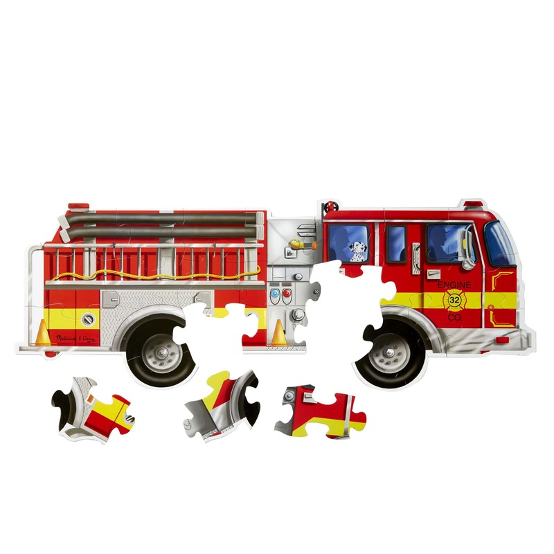 Giant Fire Truck Floor Puzzle: 3+ Years