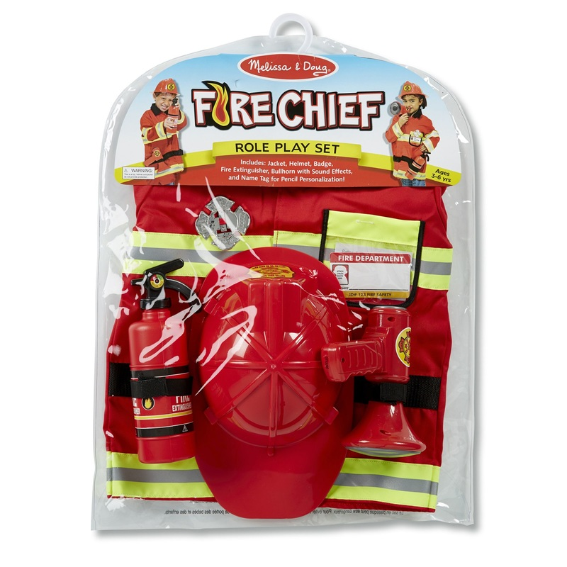 Fire Chief Role Play Costume Set: 3+ Years