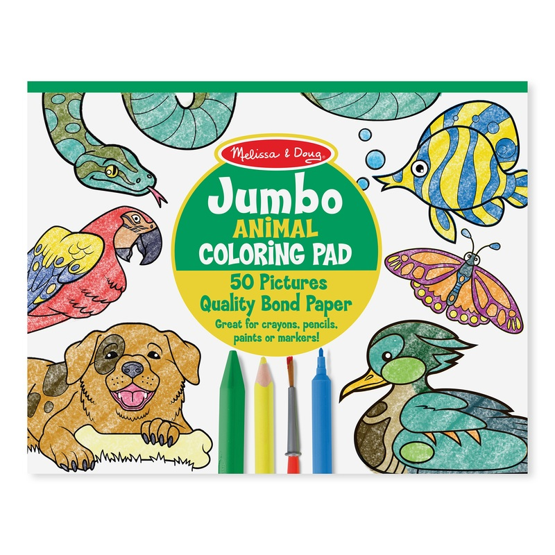 Jumbo Coloring Pad - Animals: 3+ Years