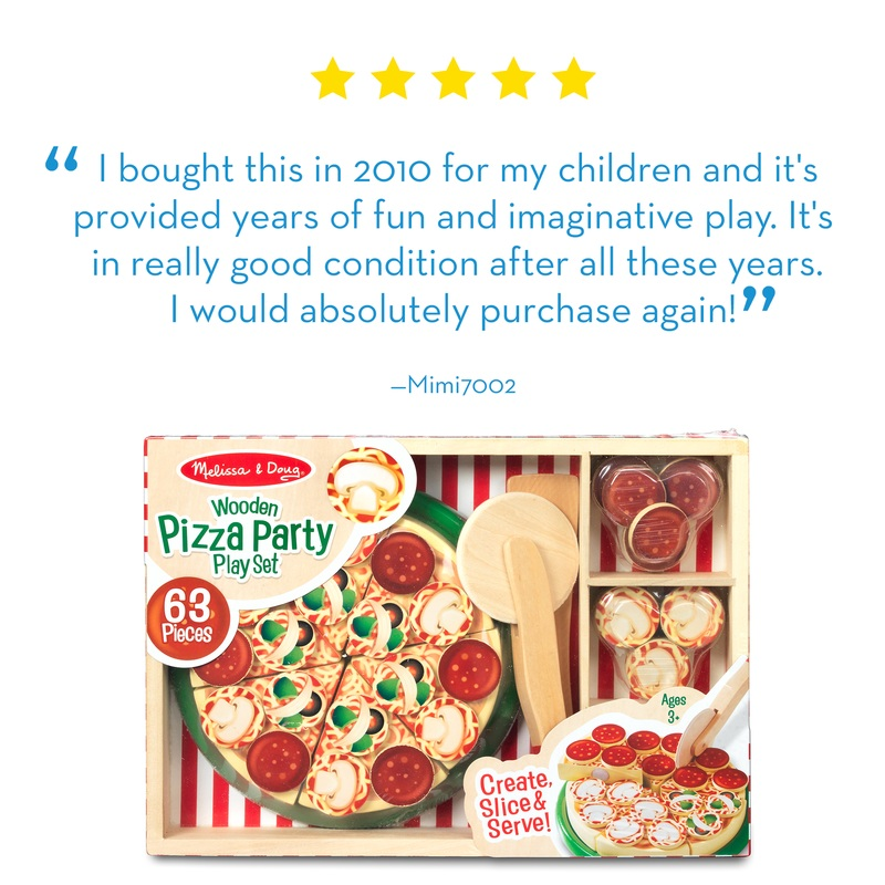 Pizza Party - Wooden Play Food: 3+ Years