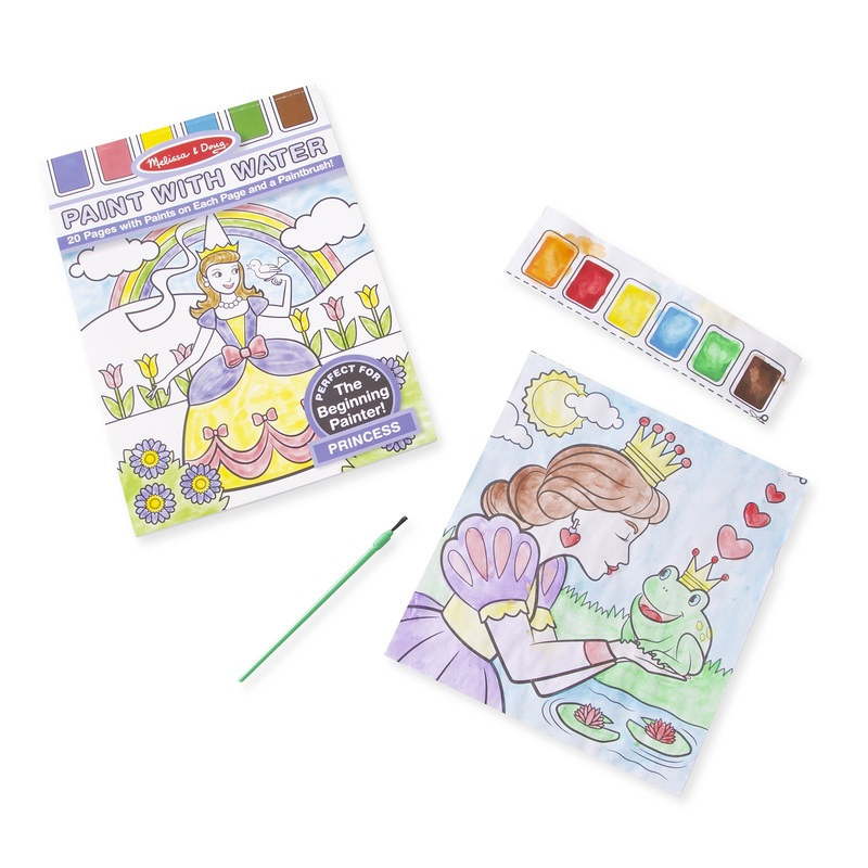 Princess Paint with Water Kids' Art Pad: 3+ Years