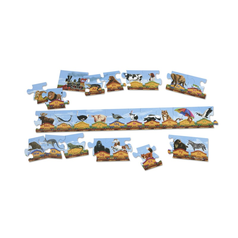 Alphabet Train Floor Puzzle: 28 Pieces, 3+ Years