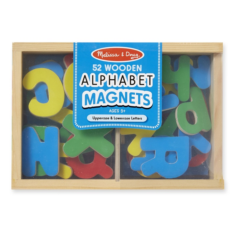 Magnetic Wooden Alphabet Letters: 3+ Years