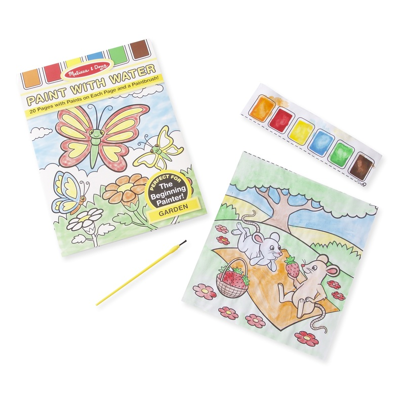 Garden Paint with Water Kids' Art Pad: 3+ Years