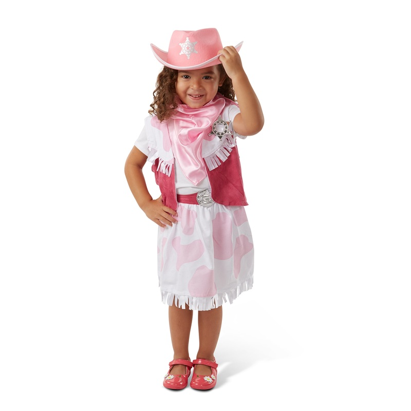 Cowgirl Role Play Costume Set: 3 - 6 Years