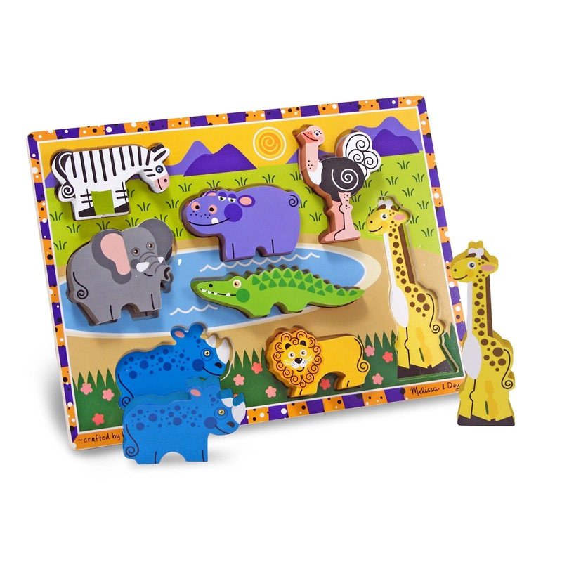 Safari Chunky Puzzle: 8 Pieces, 2+ Years