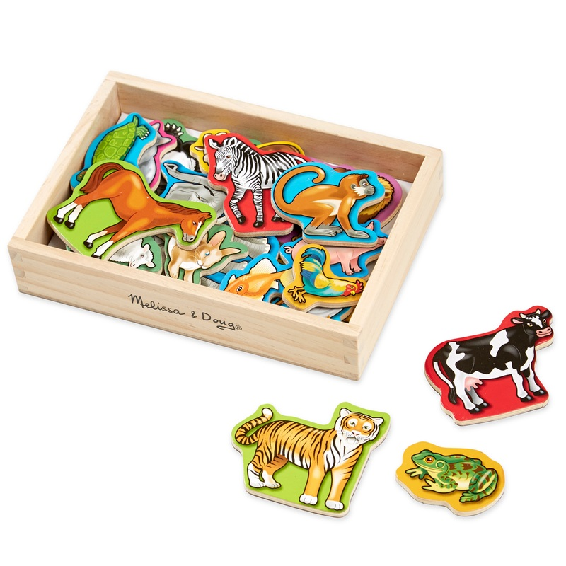 Wooden Animal Magnets: 2+ Years