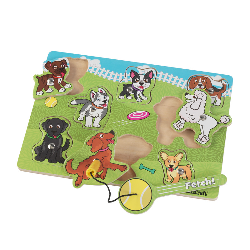 Dog Park Magnetic Puzzle: Help all 8 dogs fetch with the magnetic ball