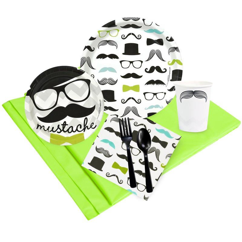 Birthday Express Mustache Man Party Pack