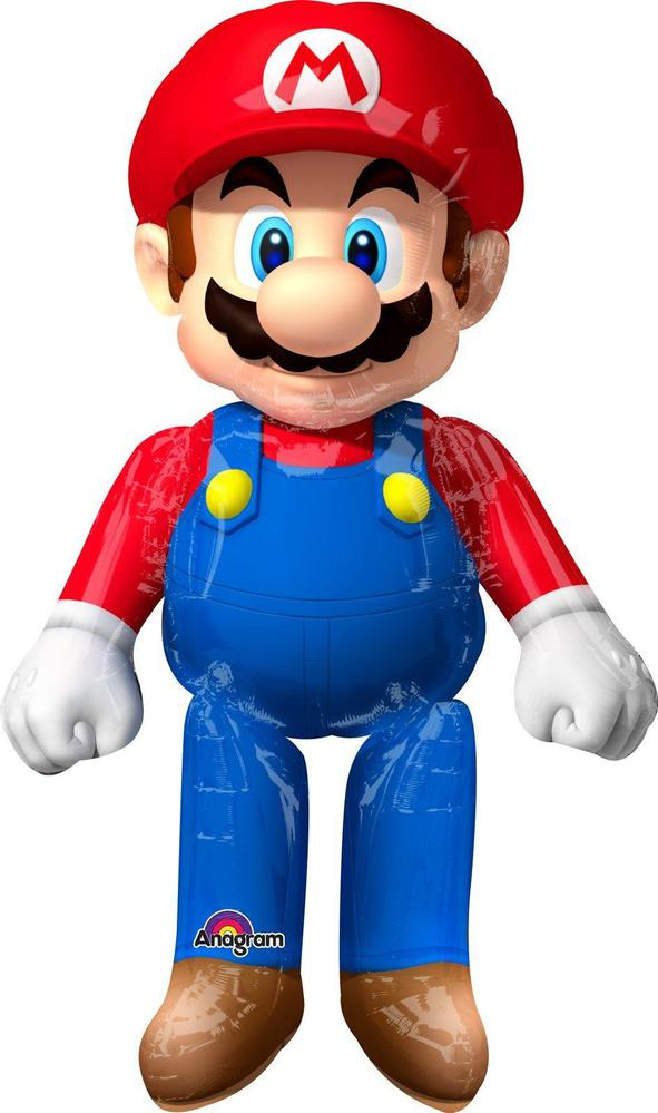 Mayflower Distributing Super Mario Bros. Airwalker Foil Balloon