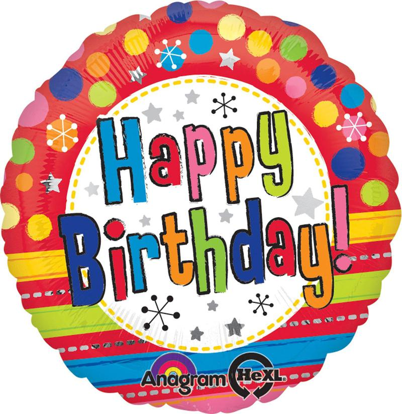 Mayflower Distributing Bright Happy Birthday Foil Balloon