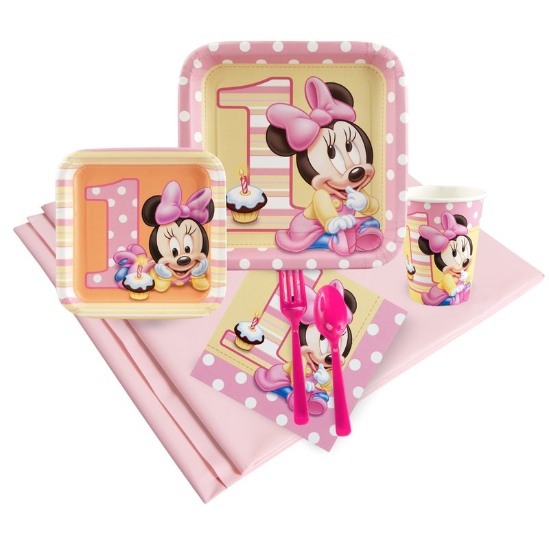 Minnie Mouse 1st Birthday Party Pack: Multi-colored, Birthday