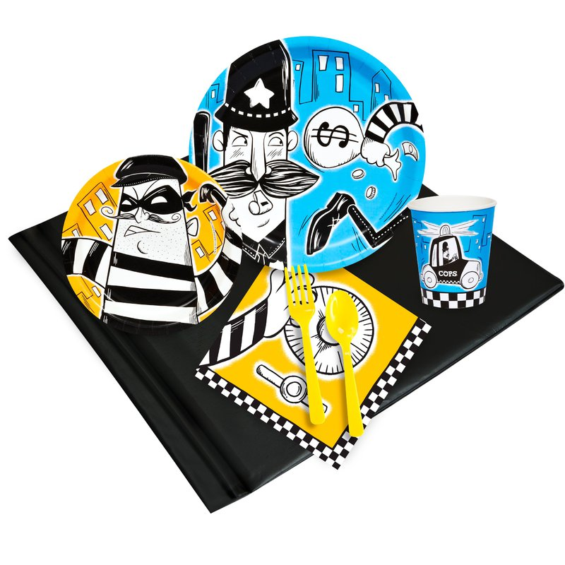 Birthday Express Cops and Robbers Party Pack