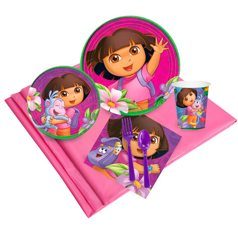 Dora's Flower Adventure Party Pack: Multi-colored, Birthday