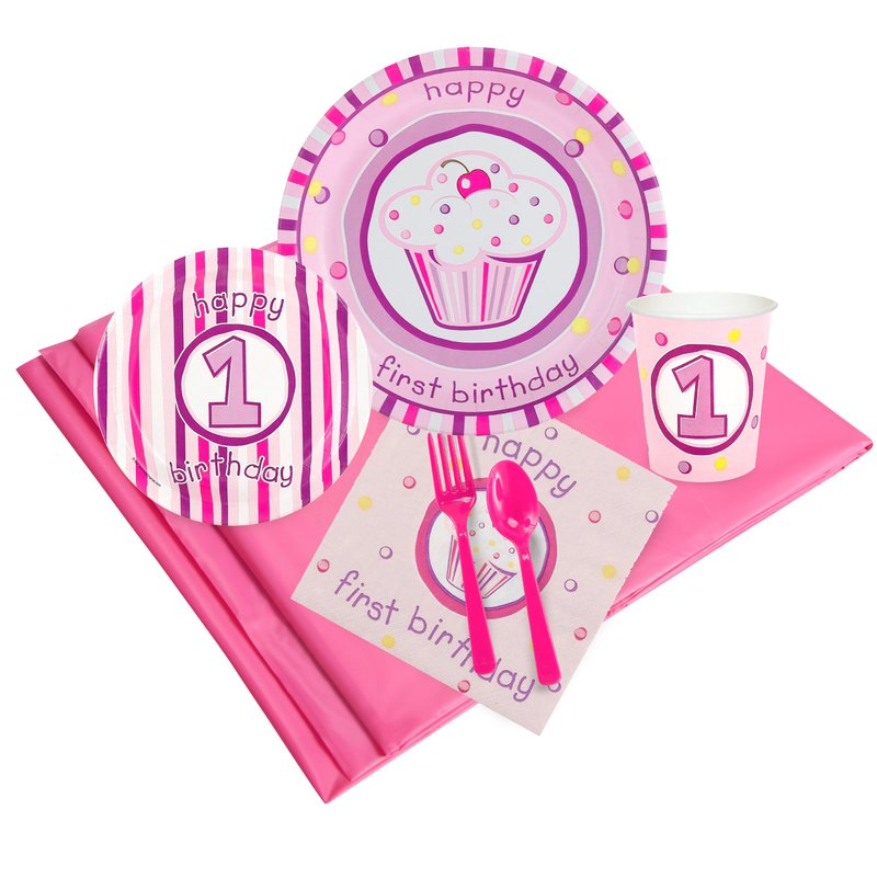 BuySeasons Girls Lil Cupcake 1st Birthday Party Pack