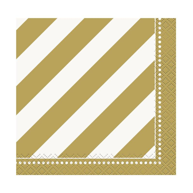 Unique Industries, Inc. Golden Birthday Beverage Napkins (16)