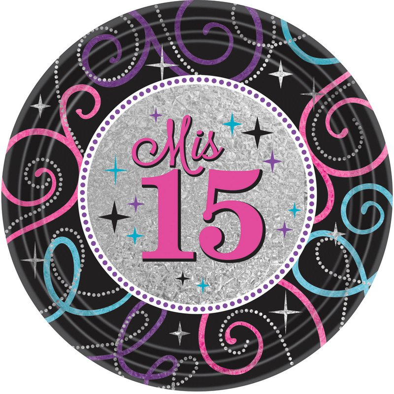 Amscan Mis Quince Anos Dinner Plates (8)