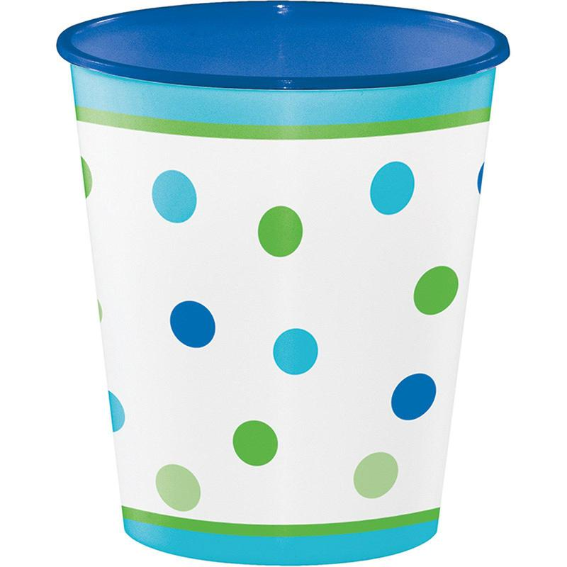Creative Converting 1st Birthday Boy Sweet Stripes 12oz. Plastic Cup