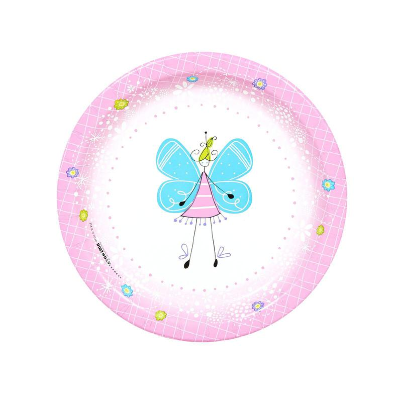 BuySeasons Butterfly Party Dessert Plates (8)