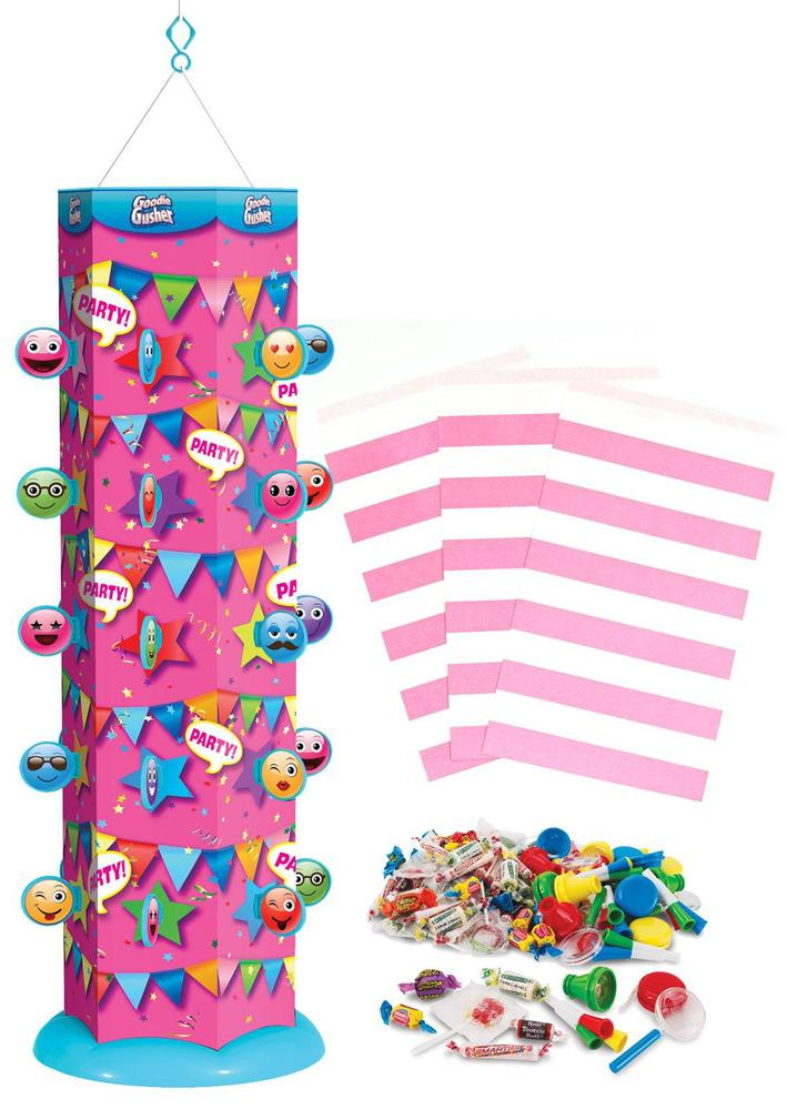 Best Party Concepts Goodie Gusher Pixie Pink Emoji Pinata Kit