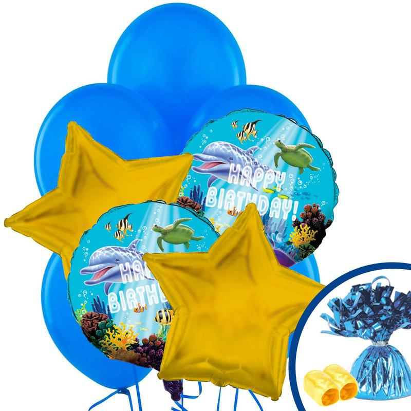BuySeasons Dolphin Party Balloon Bouquet