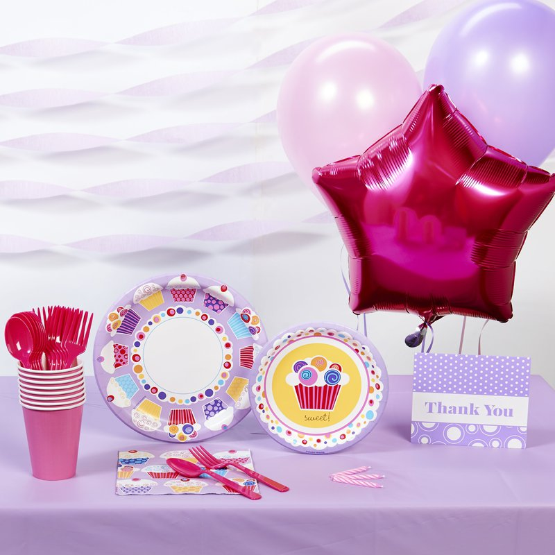 Birthday Express Sweet Cupcake Basic Party Pack