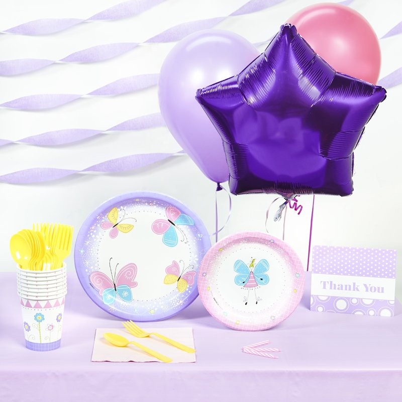 Birthday Express Butterfly Party Basic Party Pack