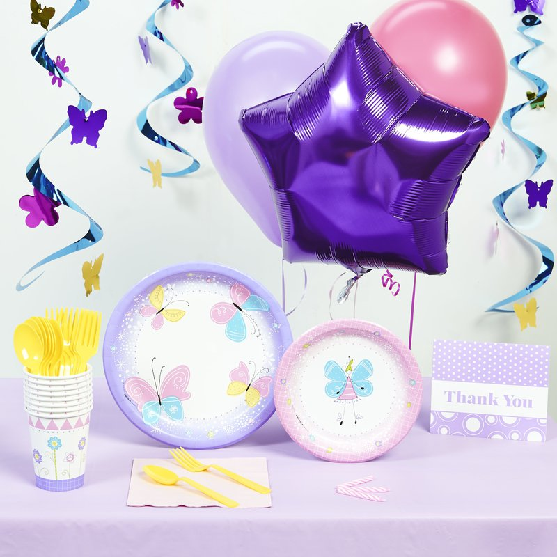 Birthday Express Butterfly Party Deluxe Party Pack