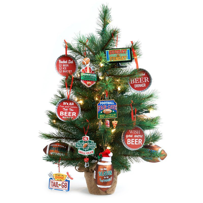 Man Cave Mini Christmas Tree Kit: Multi Colored, Christmas