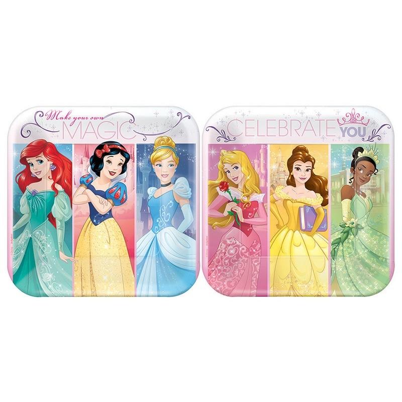 Amscan Disney Princess 7 Cake Plates 8 Birthday Party