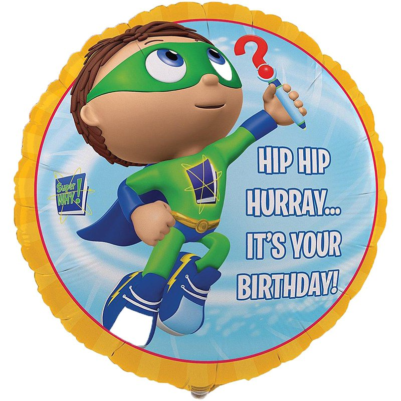 Birthday Express Super Why! Foil Balloon
